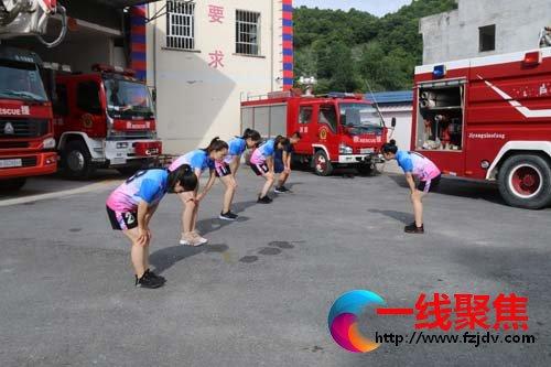 广西:乐业消防组织全体文员开展体能训练